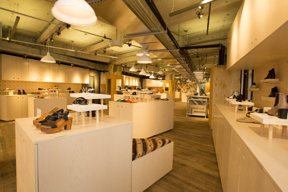 """The shoe floor at Urban Outfitters Herald Square. Photo: <a href=""""http://drielys.com"""">Driely S.</a> for Racked"""