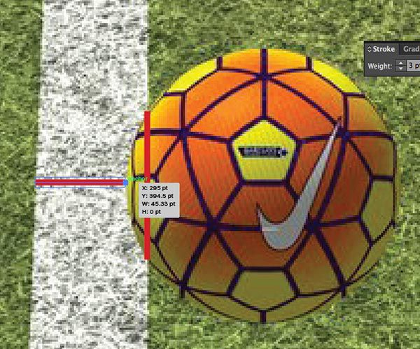 width-to-ball