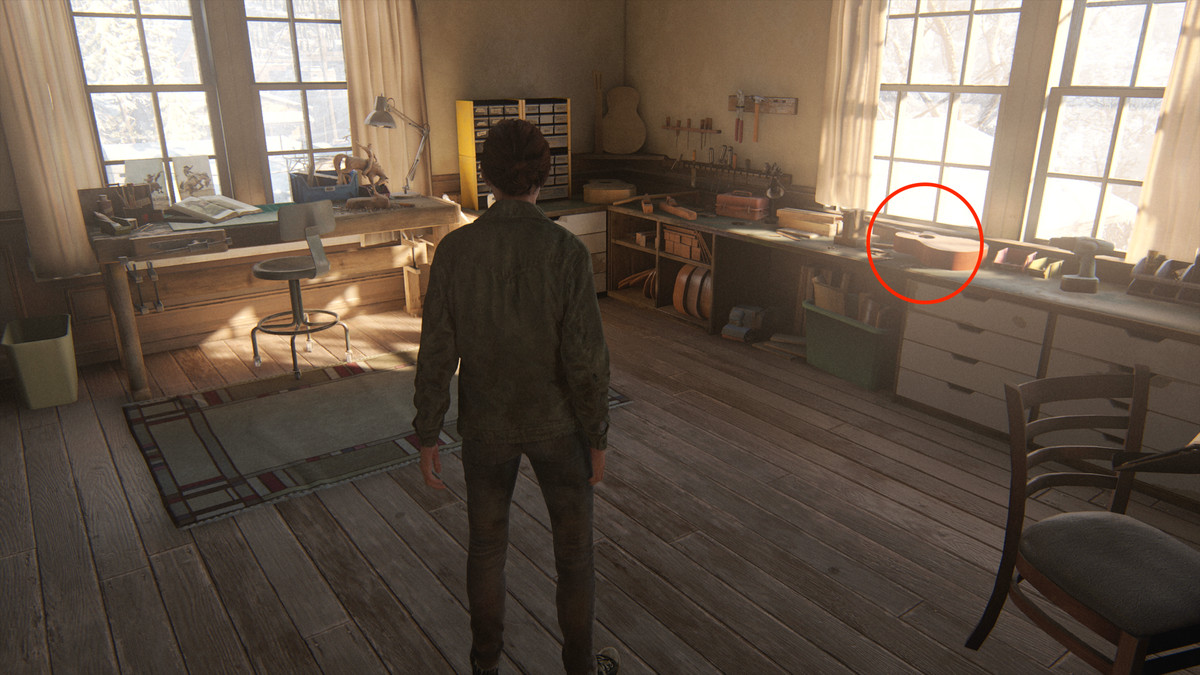 Joel's guitar in The Last of Us Part 2 Jackson Packing Up journal entry