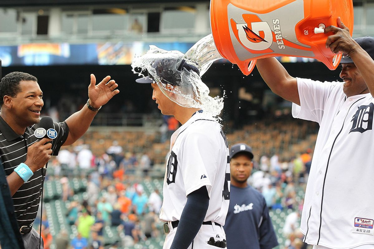 Throwing water on Quintin Berry
