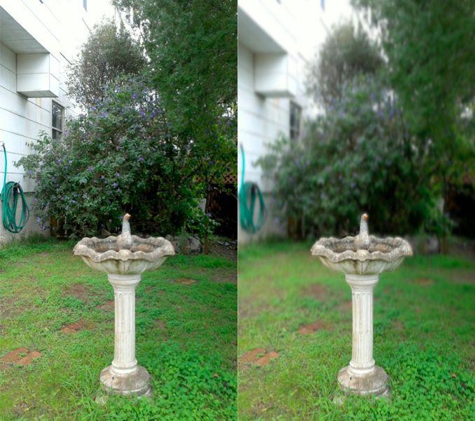 Original image on left