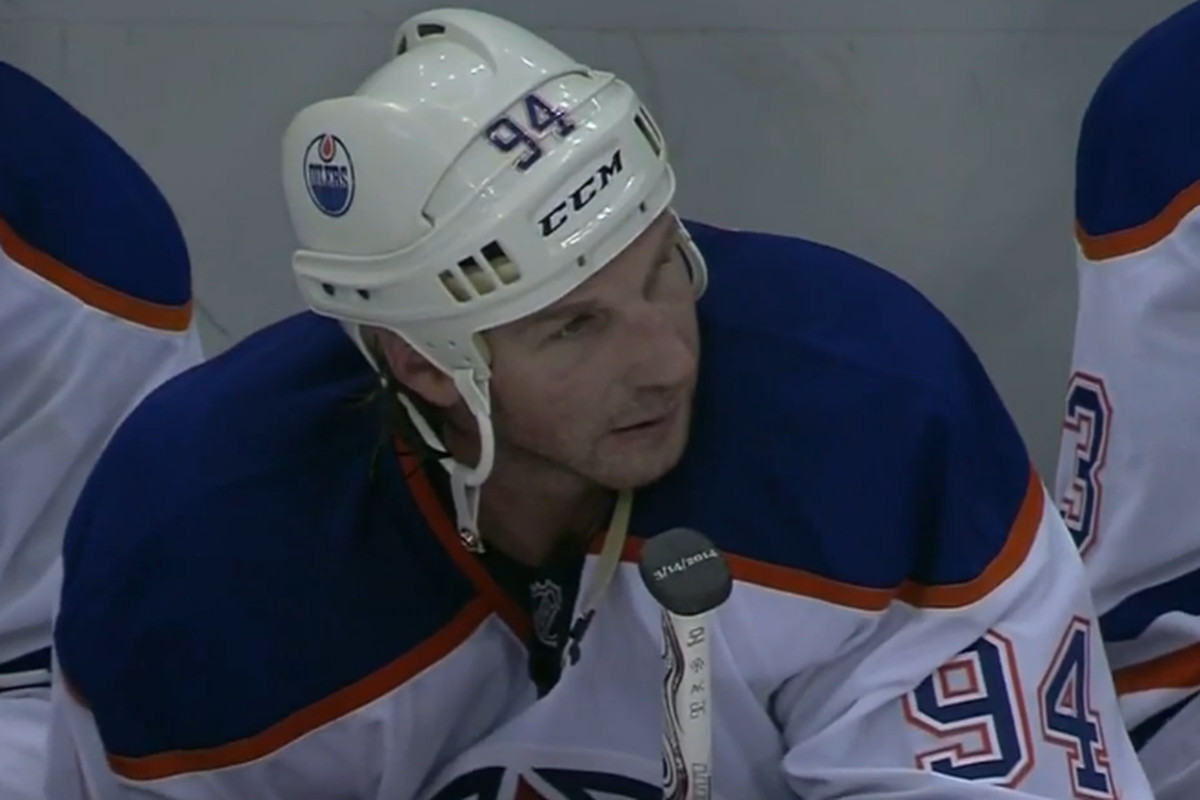 Take a look at the date on Ryan Smyth's stick. Eat your heart out DawgBone