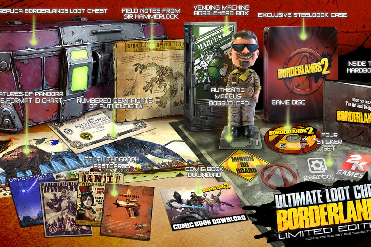 Gallery Photo: Borderlands 2 Deluxe Vault Hunter's Collector's Edition and Ultimate Loot Chest Limited Edition gallery