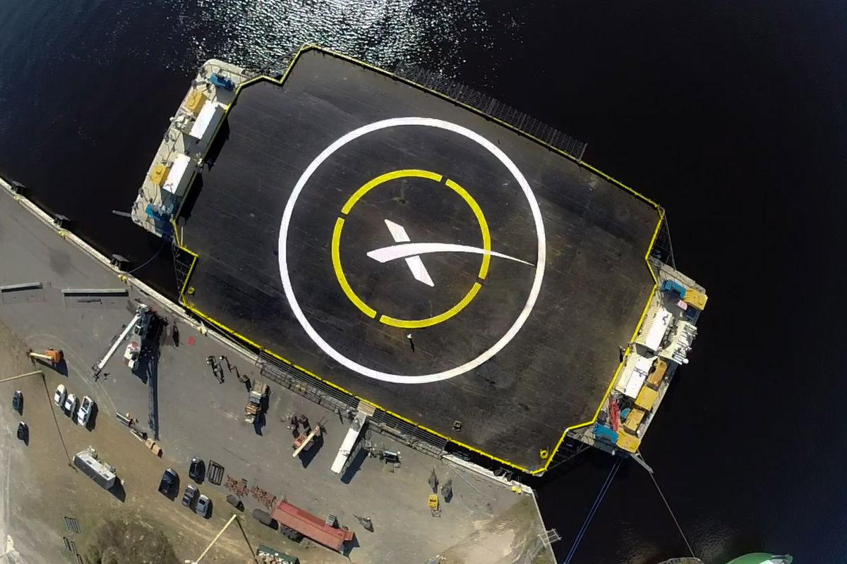 spacex is gearing up for its next big launch according to a tweet from elon musk spacex s drone spaceport ship has left the dock and headed to its hold