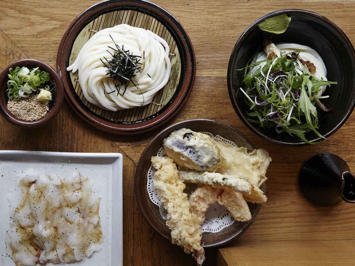 Udon noodles and Japanese small plates at Koya, with an upcoming restaurant opening at Market Halls Victoria this November