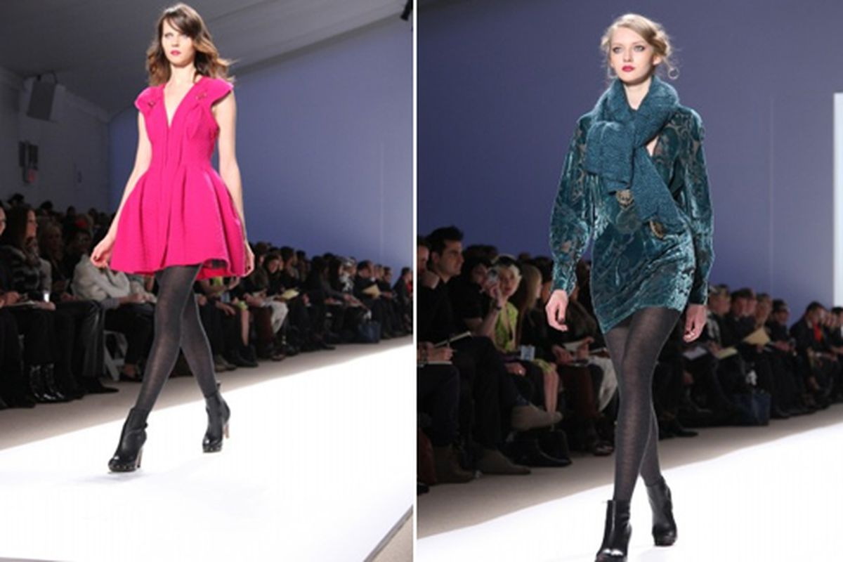 Two looks from Nanette Lepore's fall 2010 show