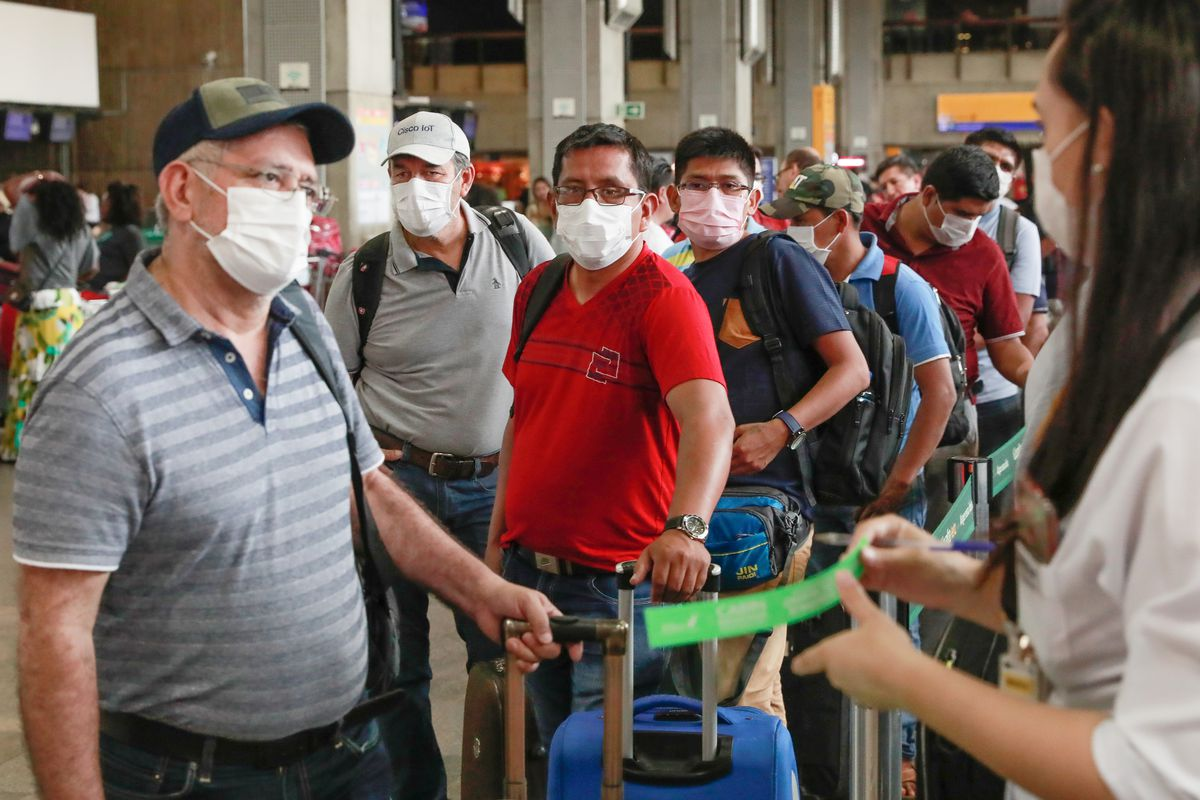 Precautionary Measures against the Coronavirus Being Taken at the Guarulhos Airport in São Paulo