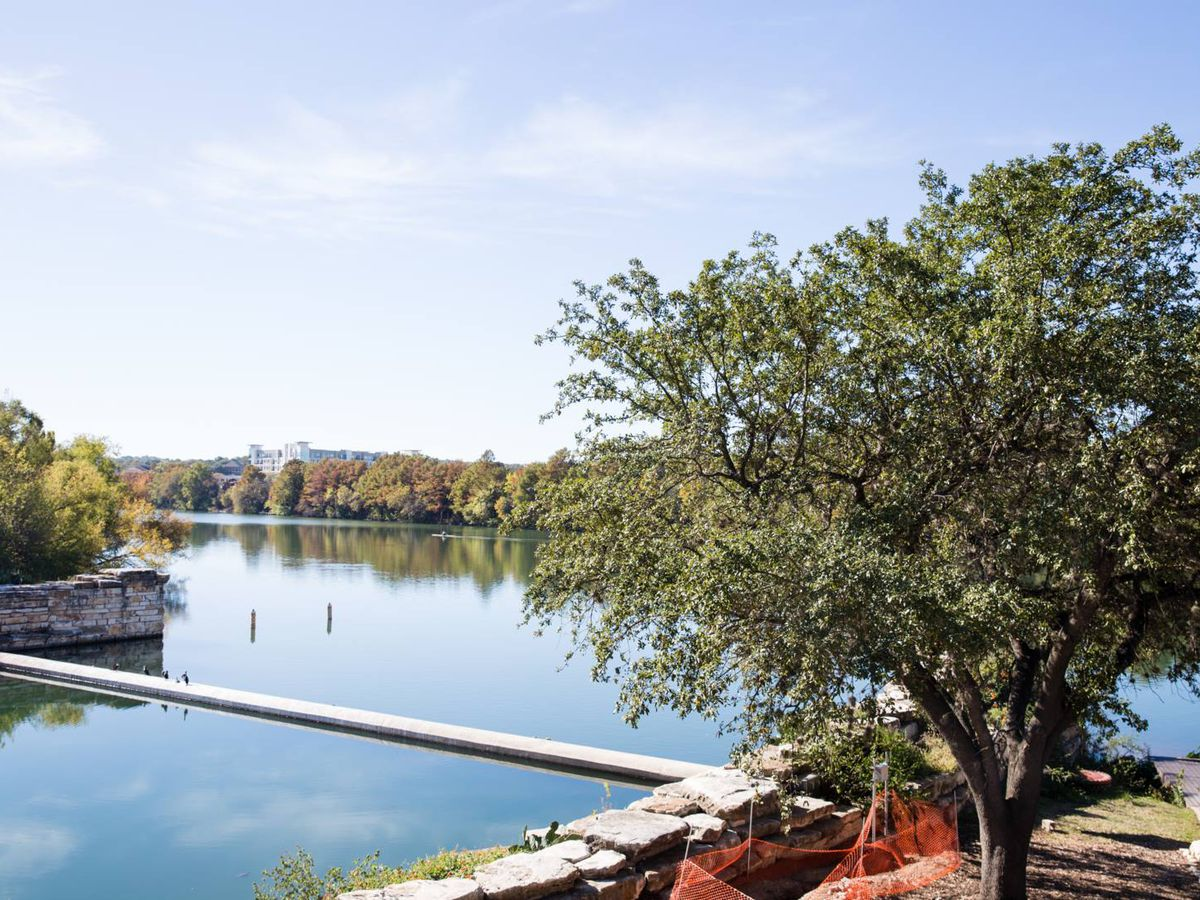 The view of the lake from Alta's patio