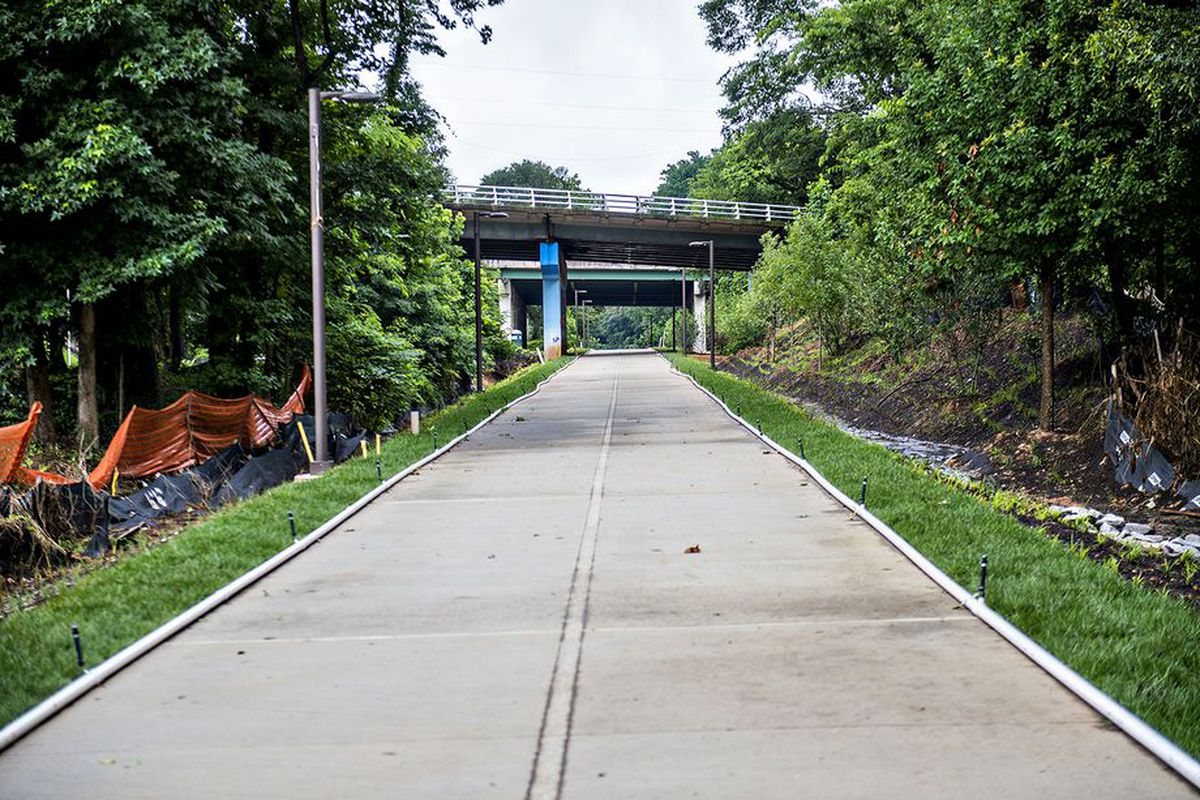 The Atlanta Beltline's Westside Trail, prior to its 2017 unveiling.
