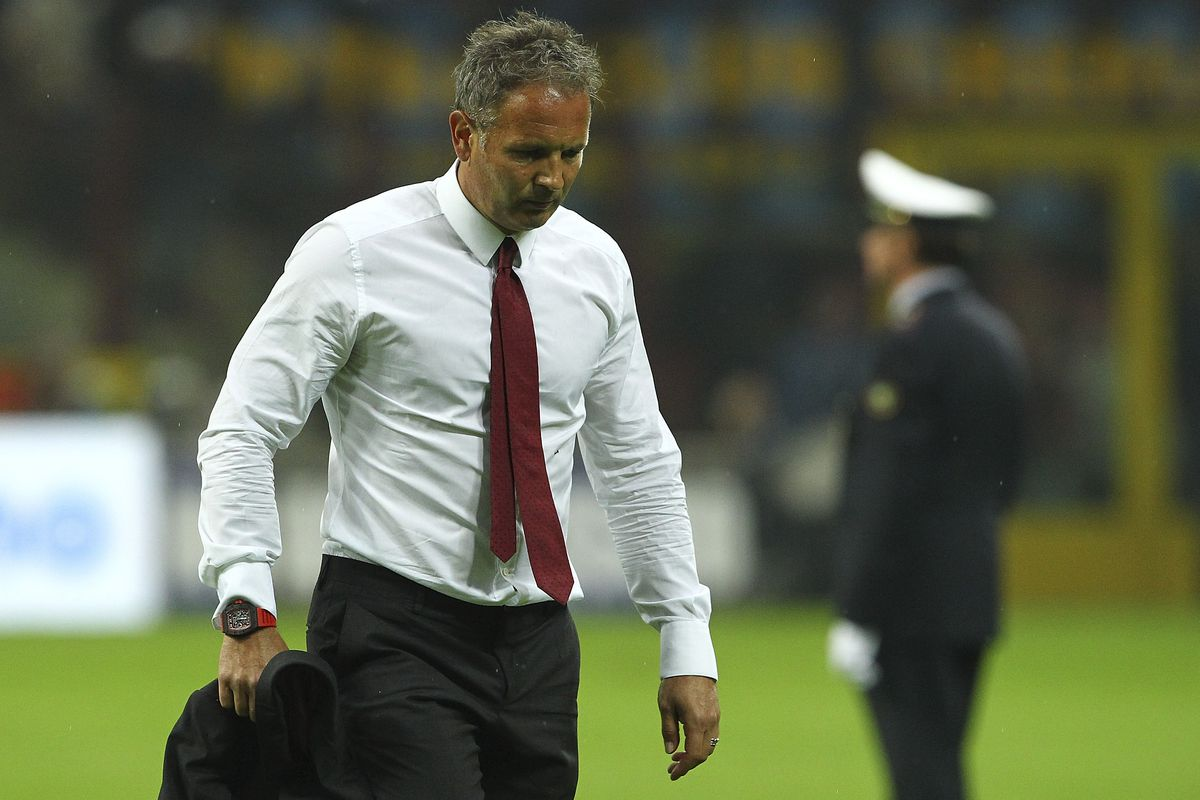 Sinisa Mihajlovic lost his first derby in charge of Milan Sunday night.