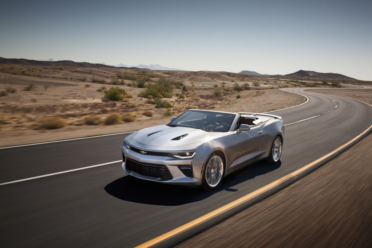 Here\'s the drop-top version of the 2016 Chevy Camaro   The Verge