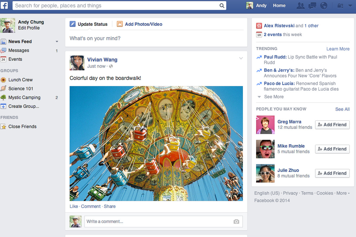 One Year Late, Facebook Rolls Out Scaled-Back News Feed