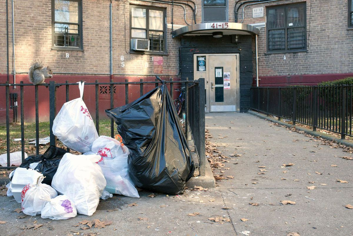 Queensbridge Houses Trash