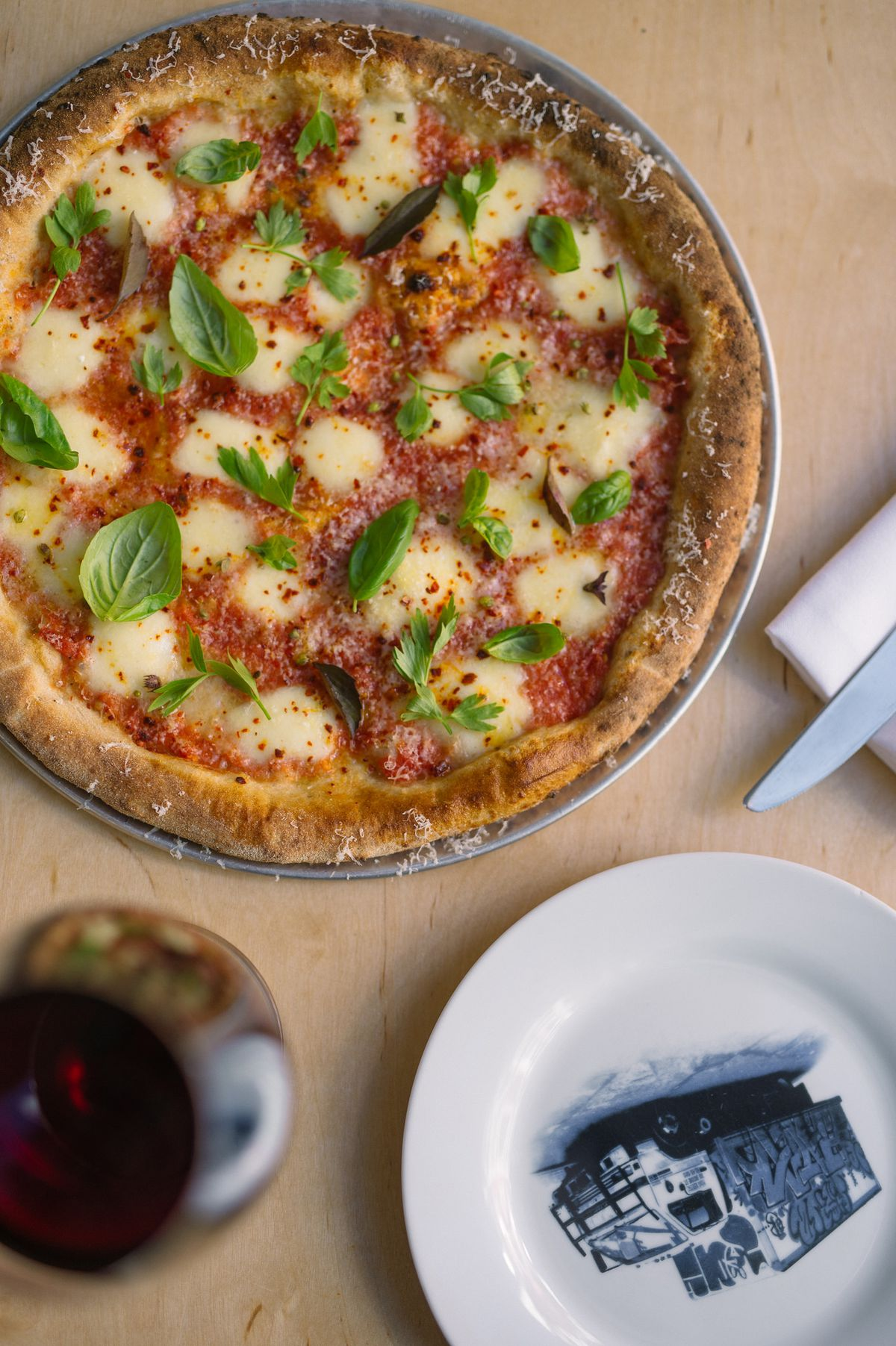 Bruno margherita pizza