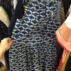 Cotton/jersey dress, $30