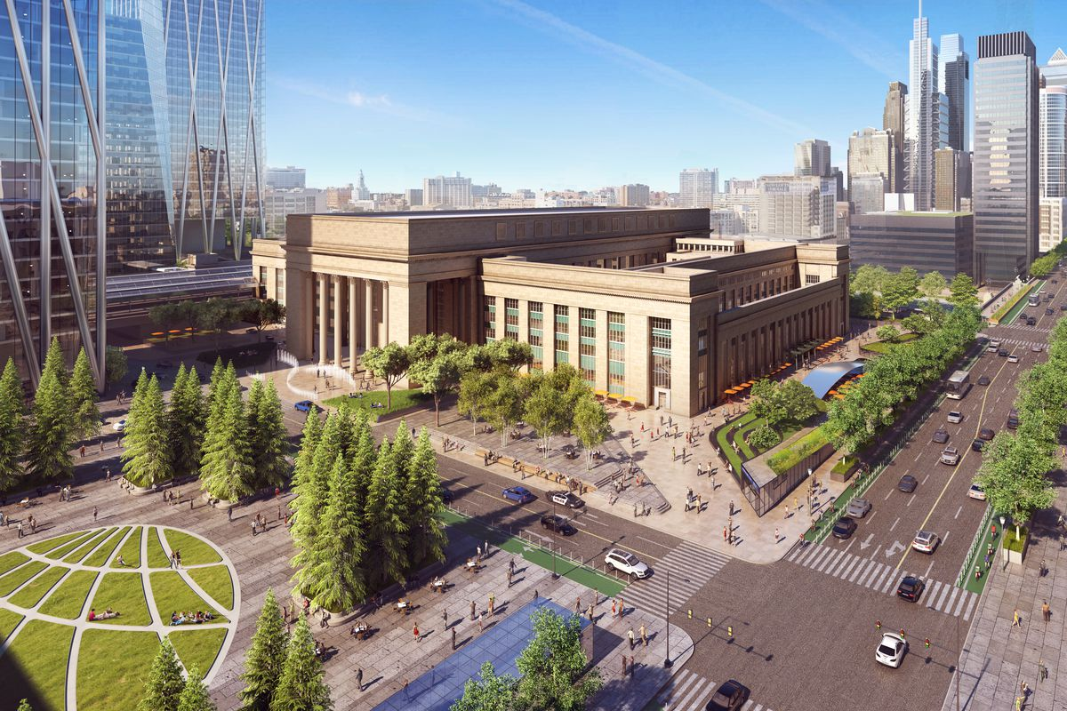 A rendering of the 30th Street Station District master plan.