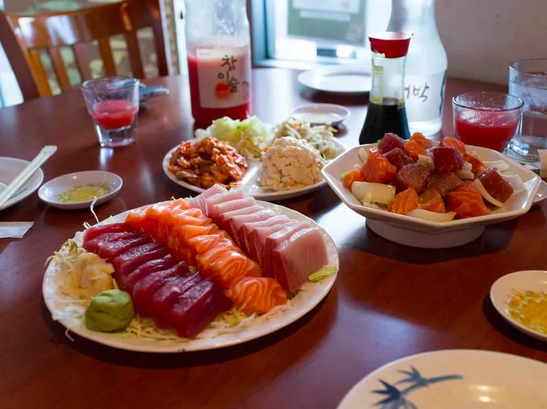 Sashimi at Kyung's