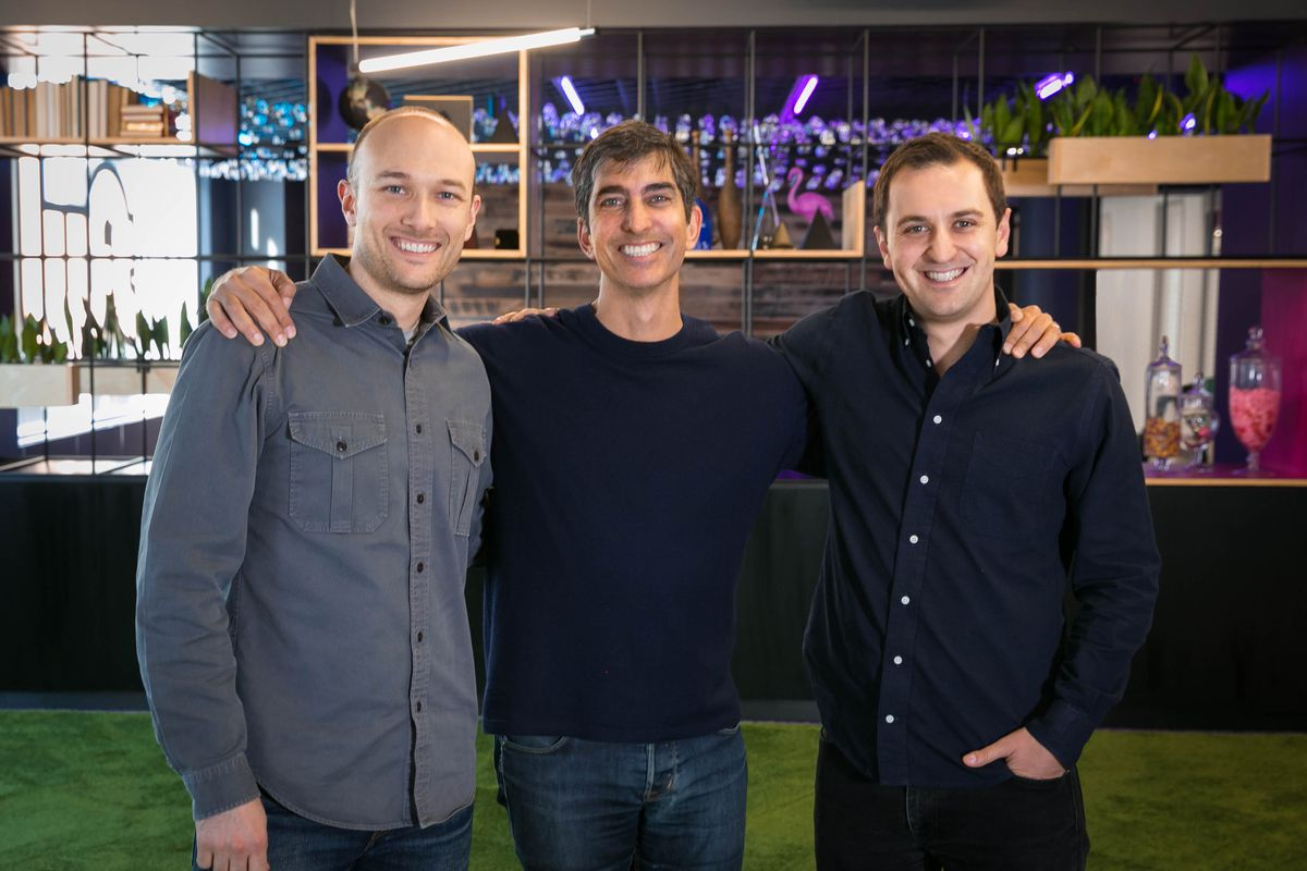 Lyft co-founder Logan Green CapitalG partner David Lawee and Lyft co-founder John Zimmer        Lyft