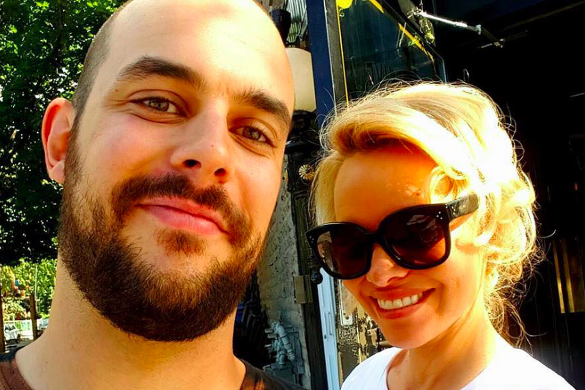 Pamela Anderson and friend outside L'Gros Luxe, yesterday