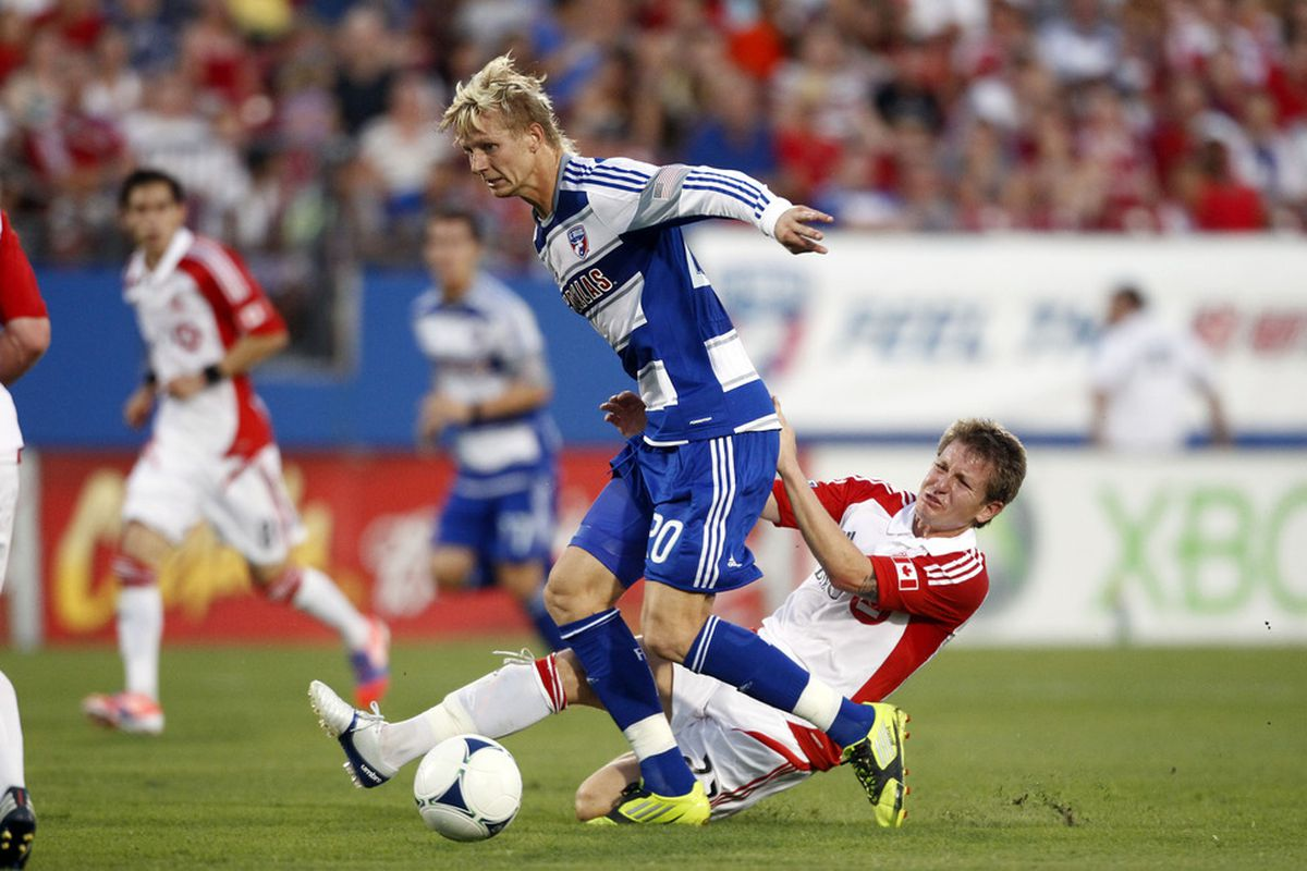 With all the moves made around MLS lately, and Brek Shea in conflict with his boss, what's his trade value? (Photo by Layne Murdoch/Getty Images)