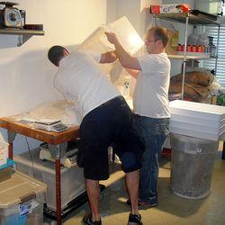 Jonah and Erik tag team the dough process.