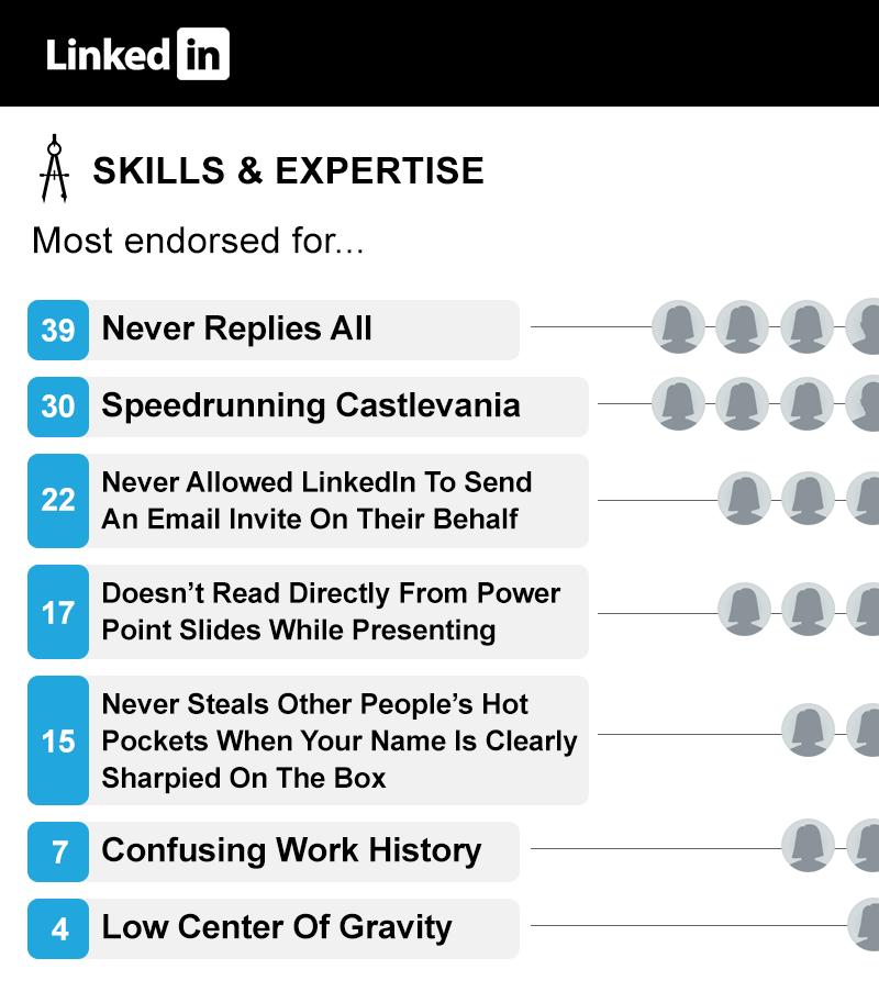 Endorsements You Wish Linkedin Had
