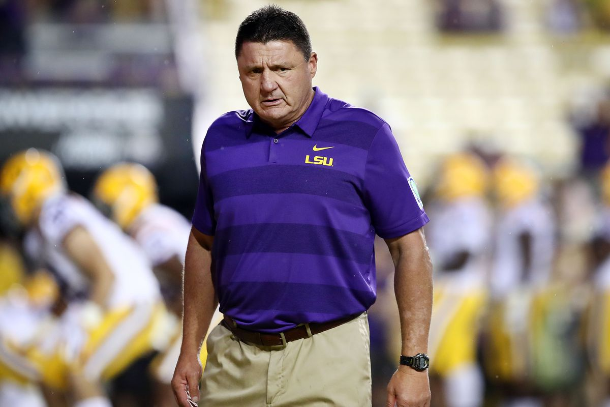 507ca330a LSU head coach Ed Orgeron said on Sunday night that his Tigers will be a  motivated bunch when they face UCF in the Fiesta Bowl.