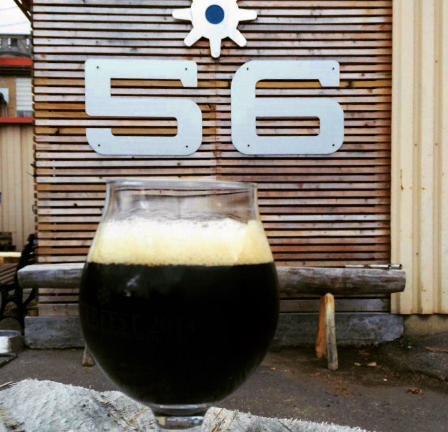 Sharing a beer outside 56 Brewing. Photo courtesy Facebook
