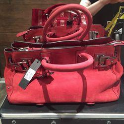 Suede bag, $359