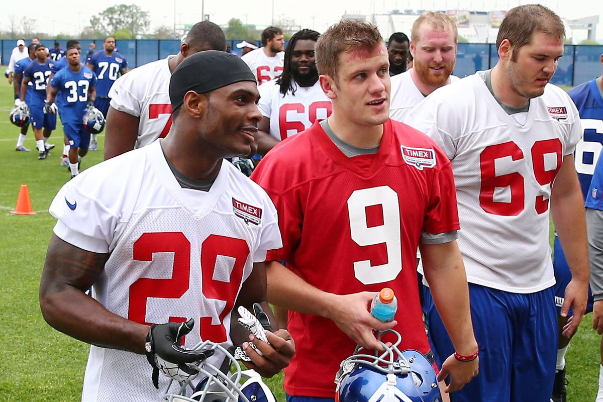 How will Ryan Nassib (9) and the rest of the rookies fare during OTAs?