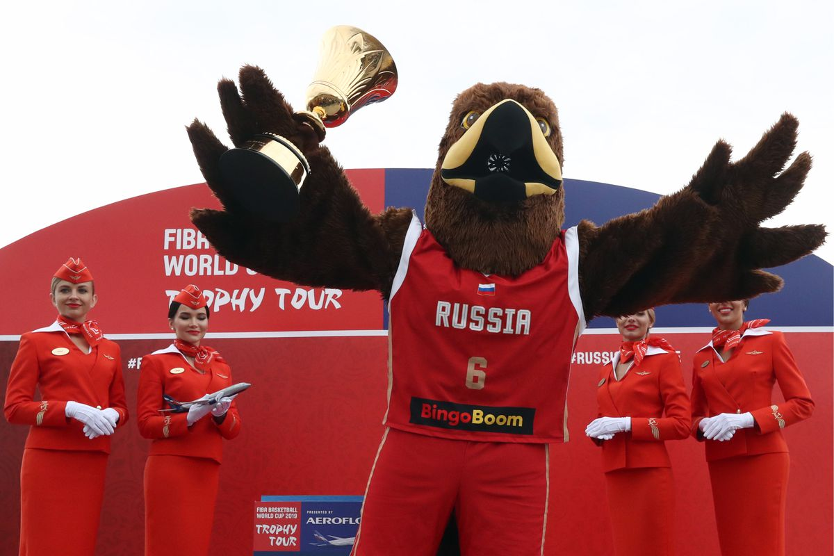 FIBA Basketball World Cup 2019 trophy brought to Moscow