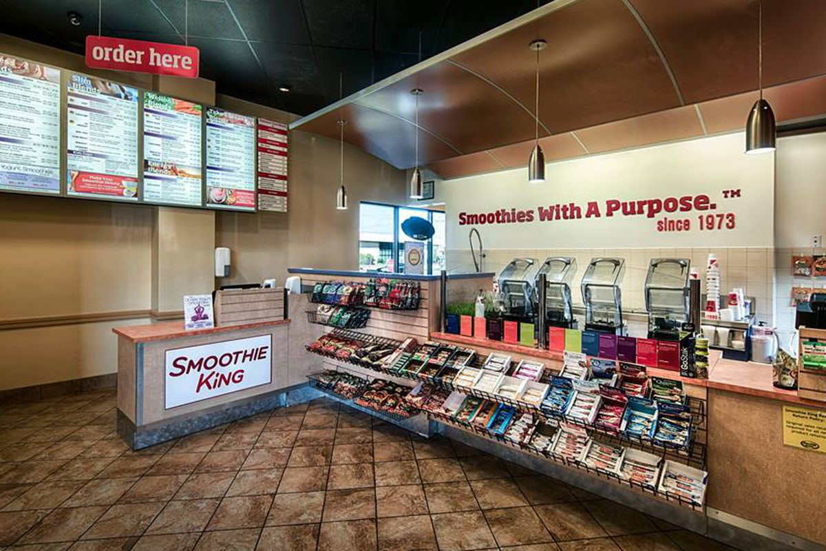 A location of Smoothie King