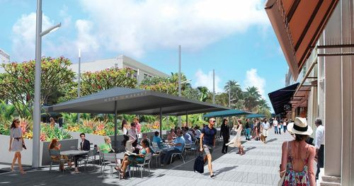 To give you an idea of what the uniform cafe umbrellas could look like.