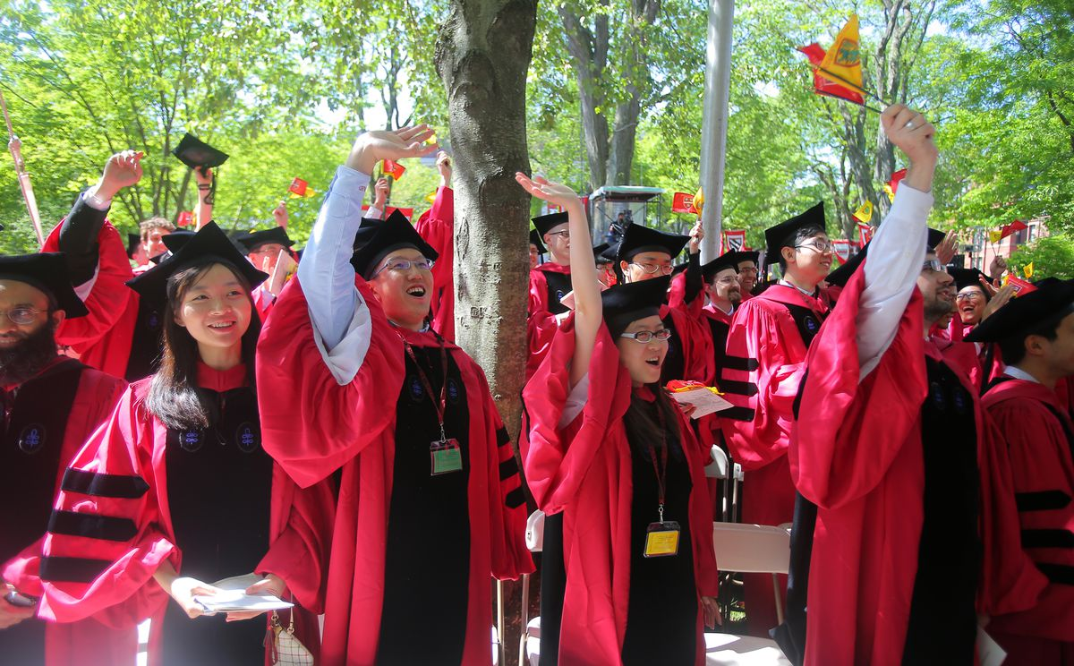Harvard graduation photo