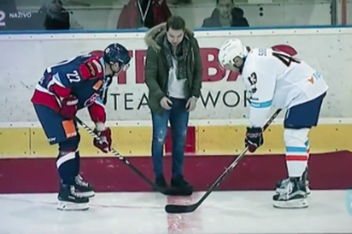 Reway drops puck in first public appearance since heart condition