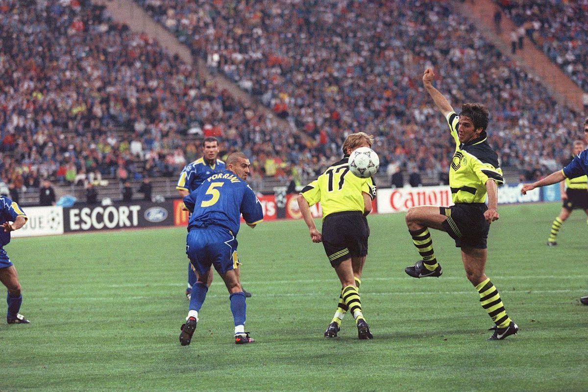 FUSSBALL: CHAMPIONS LEAGUE 1997 FINALE in MUENCHEN, 28.05.97