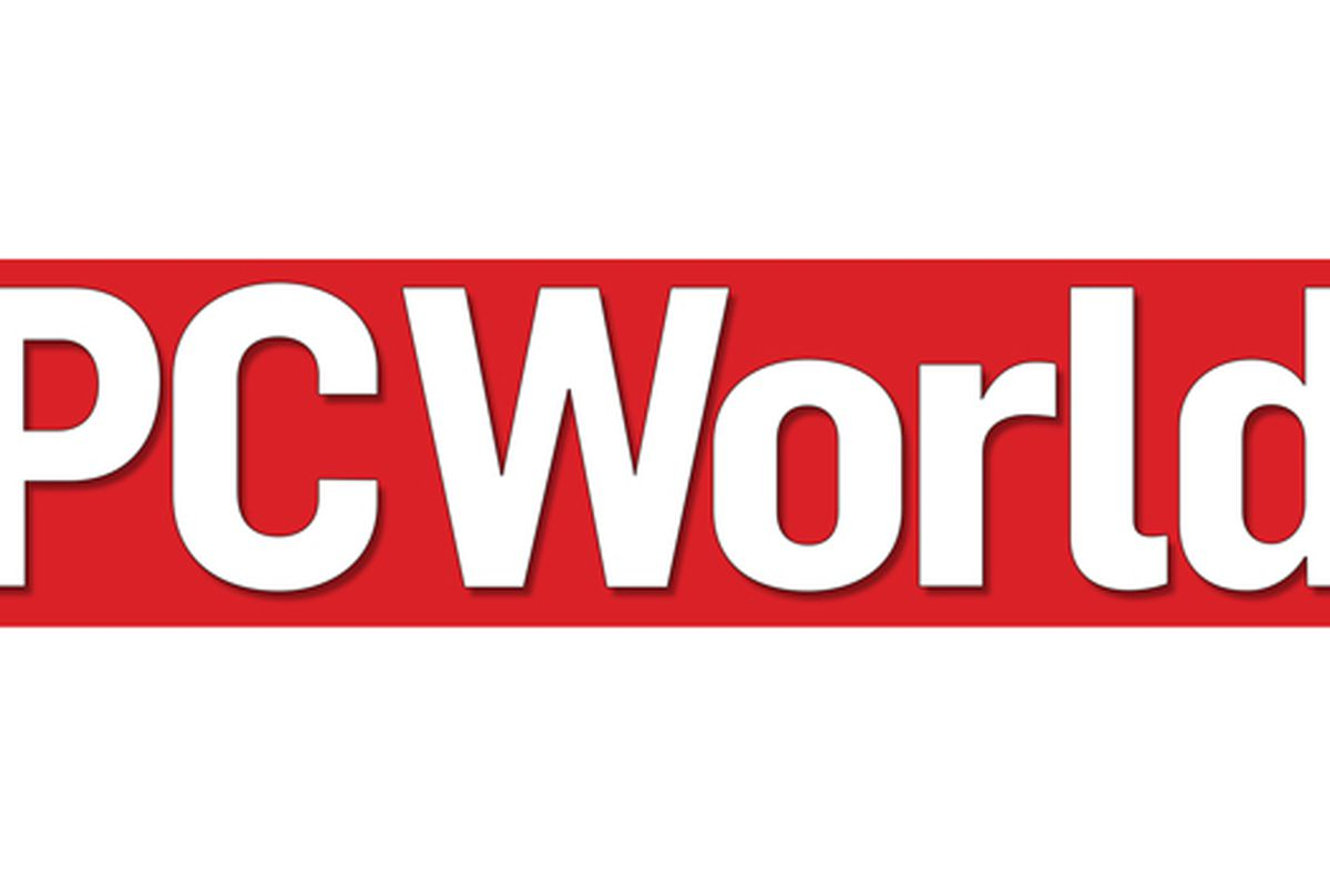 """PCWorld"" written in white on red background."