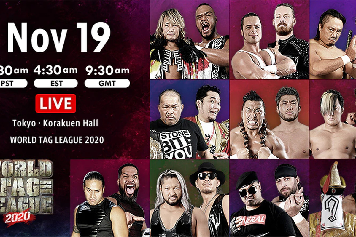Lineup for night four of New Japan World Tag League 2020