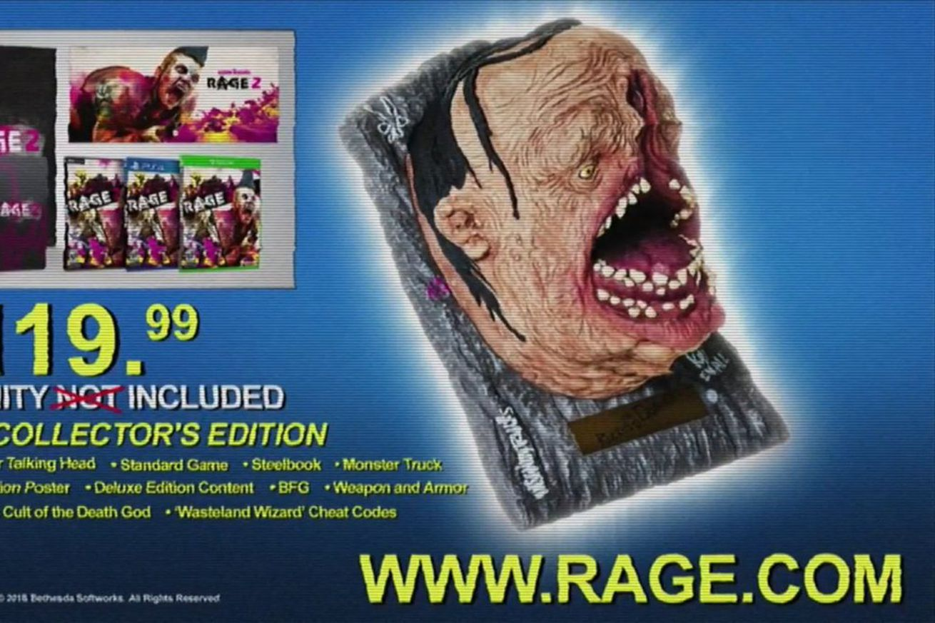 this horrifying rage 2 collectible contains the voice of party god andrew w k