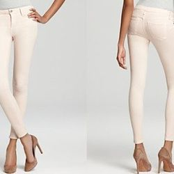 Get a leg up on denim for Spring by incorporating a lighter color jean into your wardrobe now! Ernest Sewn 'Ezra Skinny Jean in Nude', $179, bloomingdales.com