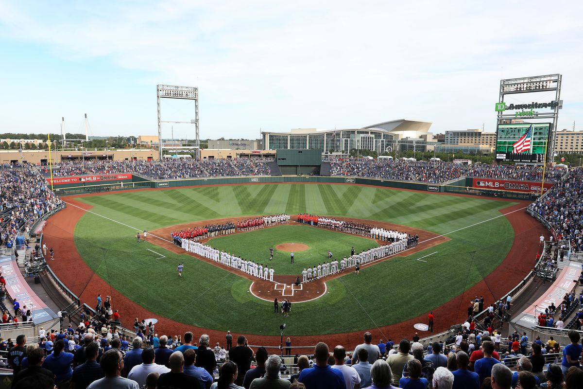 The College World Series in full-action