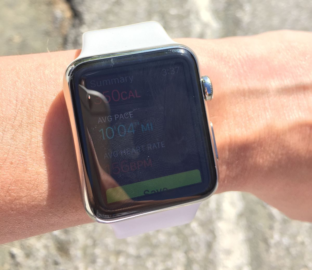 Apple Watch's display isn't highly visible in certain outdoor lighting.