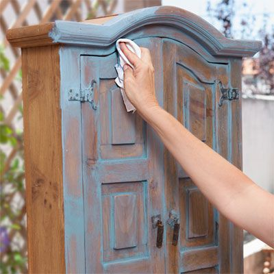 Person Wipes Off Chalk Paint With Rag
