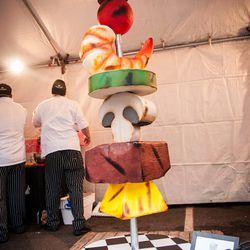 This is Duff Goldman's skewer cake, spotted at the Night Market.