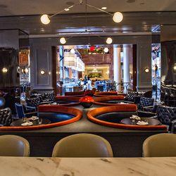 A bartender's view at Bar Margot.