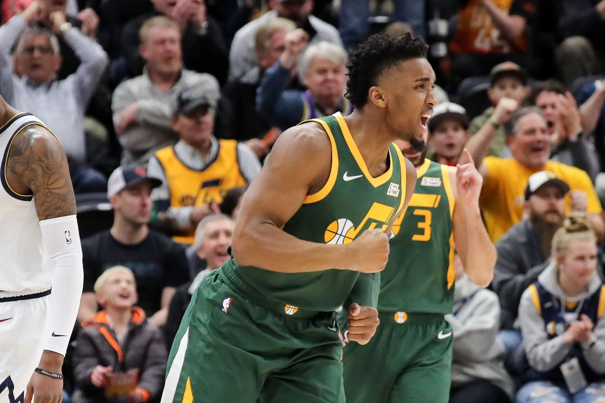 593837db3 Donovan Mitchell leads the Utah Jazz to a big win over Denver Nuggets