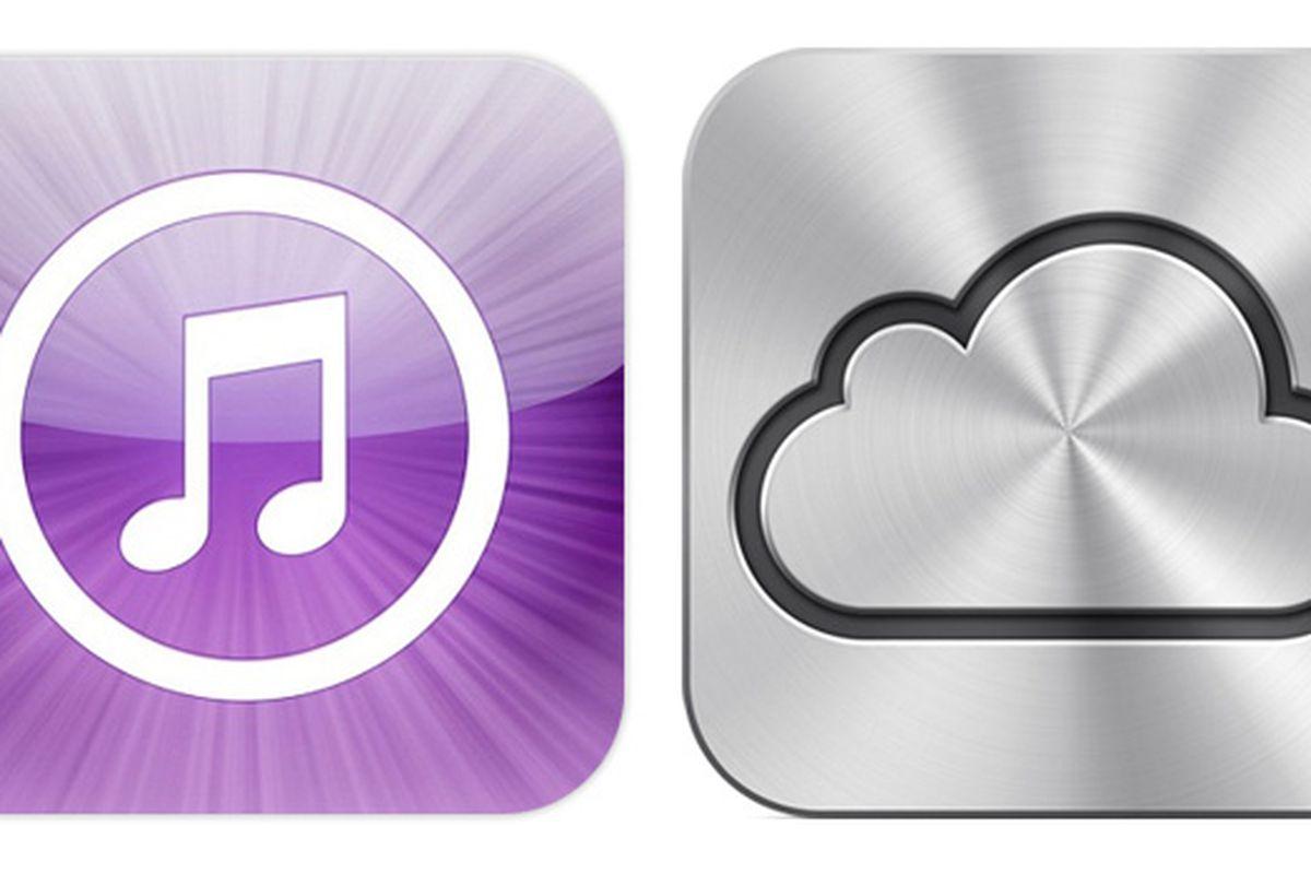iTunes and iCloud logos