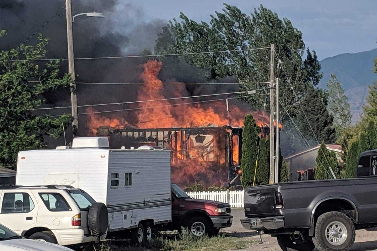 A Grantsville couple lost their home and belongings in a fire on Saturday, Aug. 3, 2019.