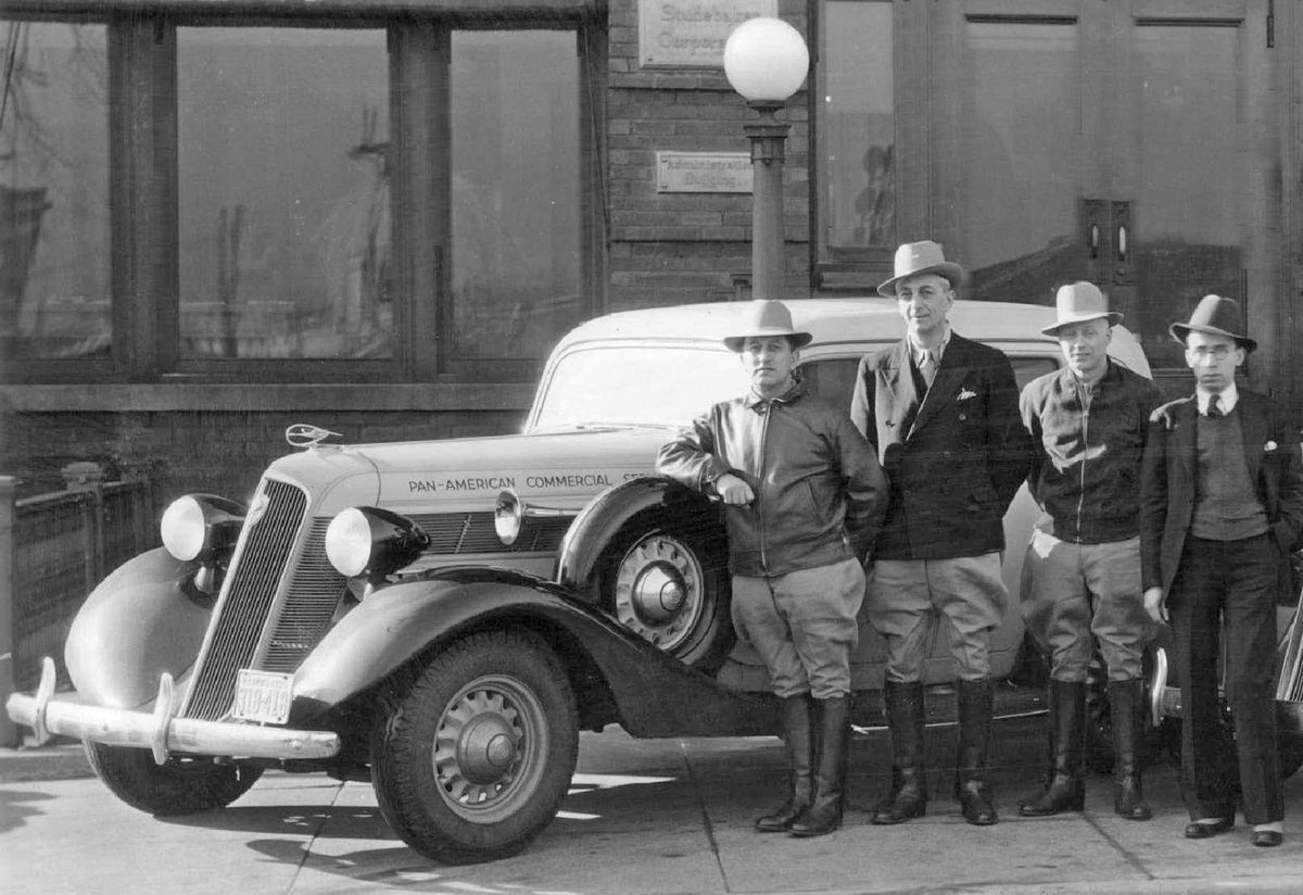 Studebaker, a now-defunct automobile manufacturer based in South Bend, Ind., sent two of its Dictators models, piloted by Chicago drivers, on a tour of South America in 1935.   Sun-Times files