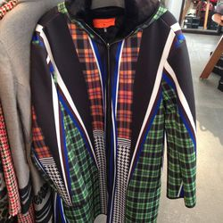Clover Canyon fur lined long coat, $795